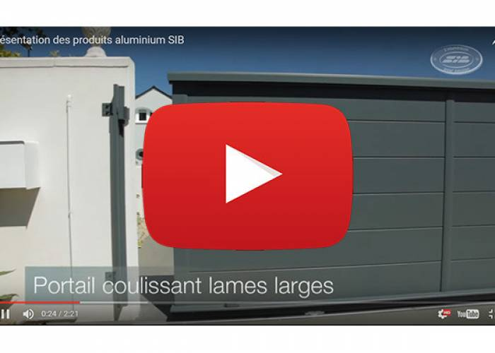 Vidéo des produits aluminium SIB
